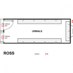 Event loo - urinal - floor plan