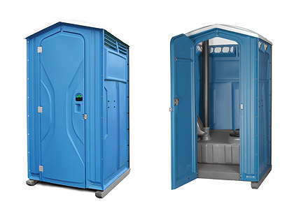 4 x 4 chemical toilet interior and exterior